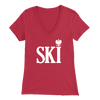 Polish Surnames Ski Womens V-Neck Shirts - Bella Womens V-Neck / Red / S - Polish Shirt Store