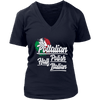 Half Italian Half Polish T-Shirt - District Womens V-Neck / Navy / S - Polish Shirt Store