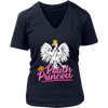 Polish Princess t shirts - District Womens V-Neck / Navy / S - Polish Shirt Store