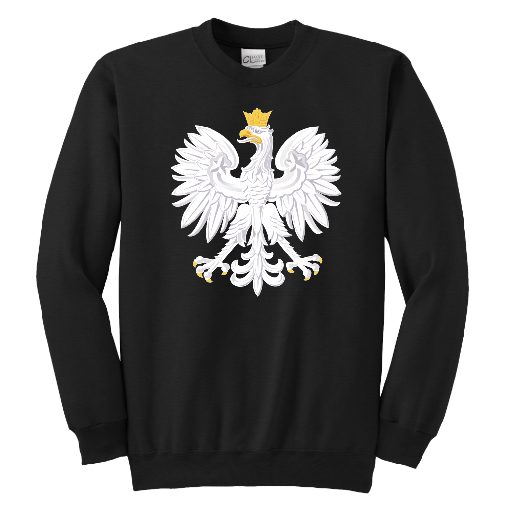 Polish Eagle Youth Shirt - Youth Crewneck Sweatshirt / Black / XS - Polish Shirt Store