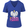 Polish Princess - District Womens V-Neck / Royal Blue / S - Polish Shirt Store