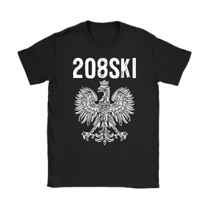 Idaho - 208 Area Code - Polish Pride - Gildan Womens T-Shirt / Black / S - Polish Shirt Store