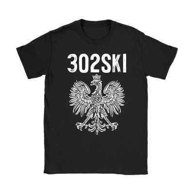 302SKI Delaware Polish Pride - Gildan Womens T-Shirt / Black / S - Polish Shirt Store
