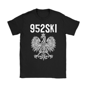 952SKI Minnesota Polish Pride - Gildan Womens T-Shirt / Black / S - Polish Shirt Store