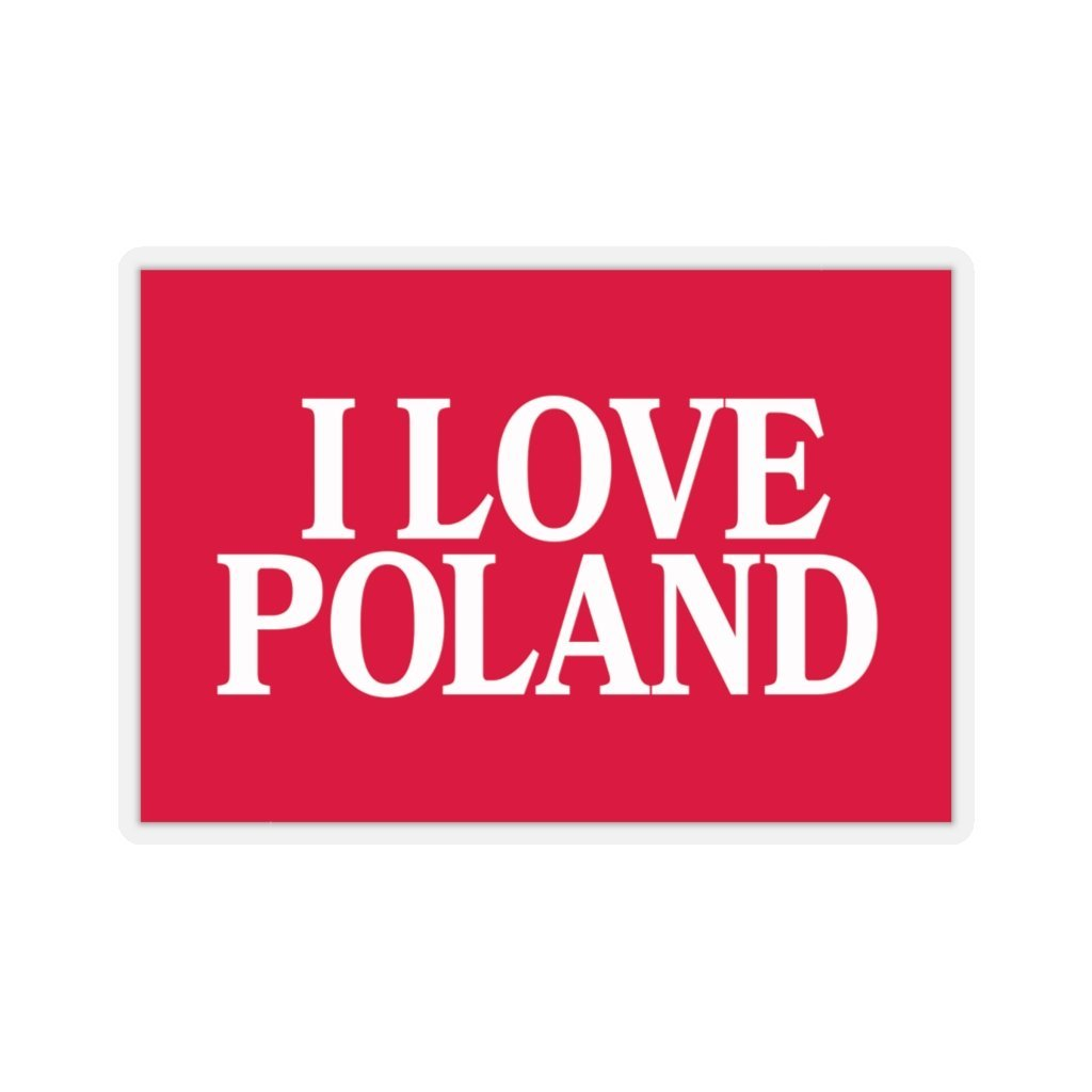 "I Love Poland Die-Cut Sticker - 4x4"" / Transparent - Polish Shirt Store"