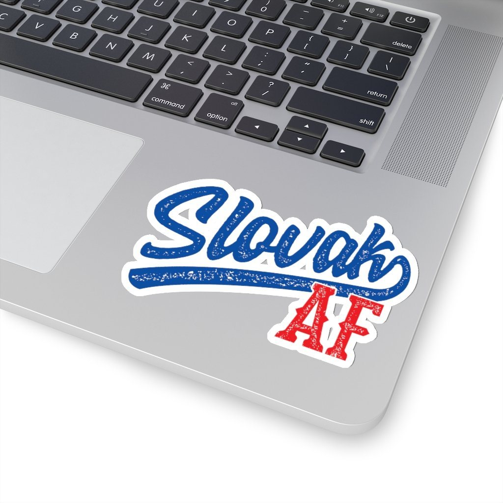 "Slovak AF Die-Cut Sticker - 4x4"" / White - Polish Shirt Store"