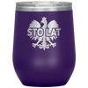Sto Lat Polish Wine Tumbler - Purple - Polish Shirt Store