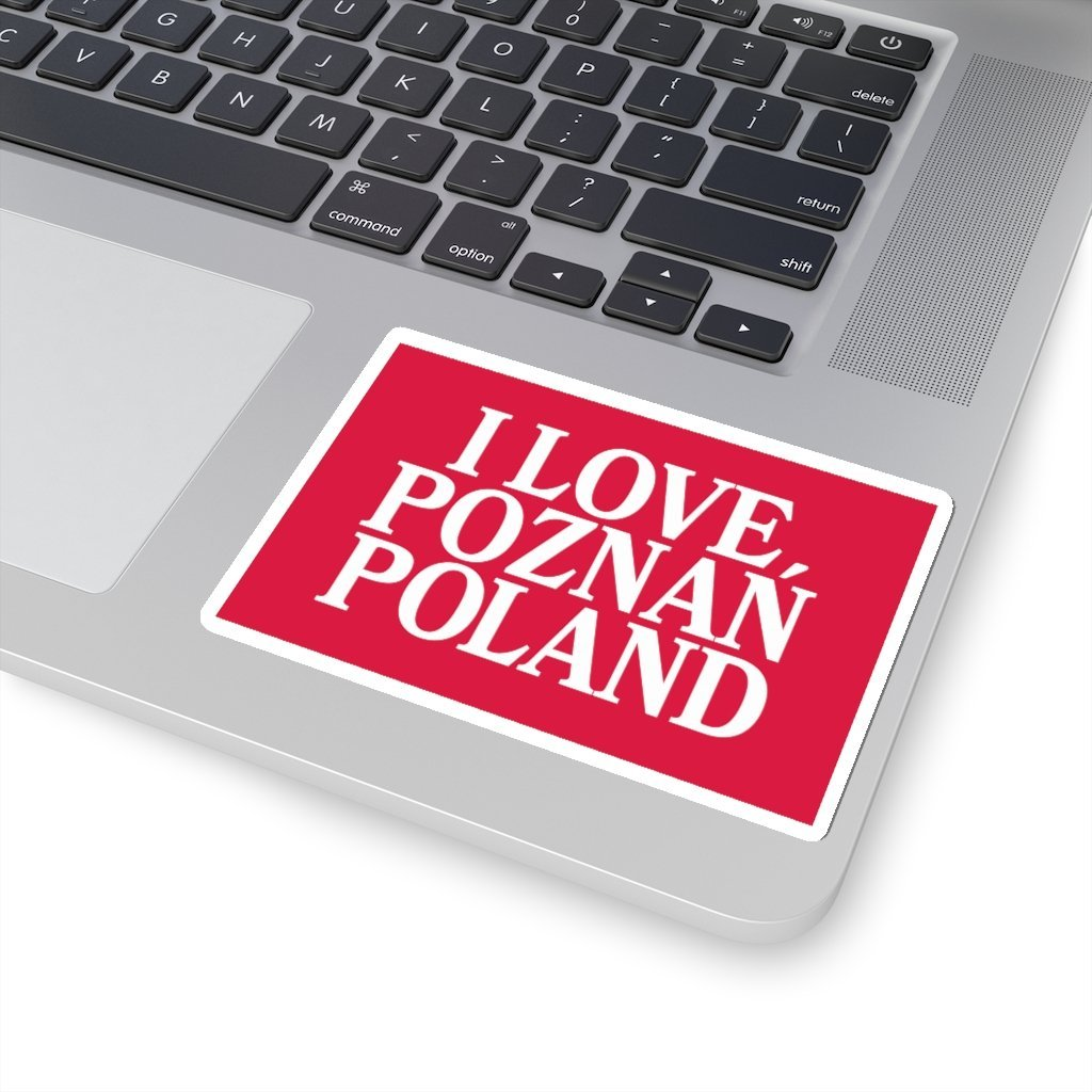 "I Love Poznan Poland Sticker - 4x4"" / White - Polish Shirt Store"
