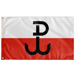 "Polish Resistance Movement Flag - Wall Flag - 36""x60"" - Polish Shirt Store"