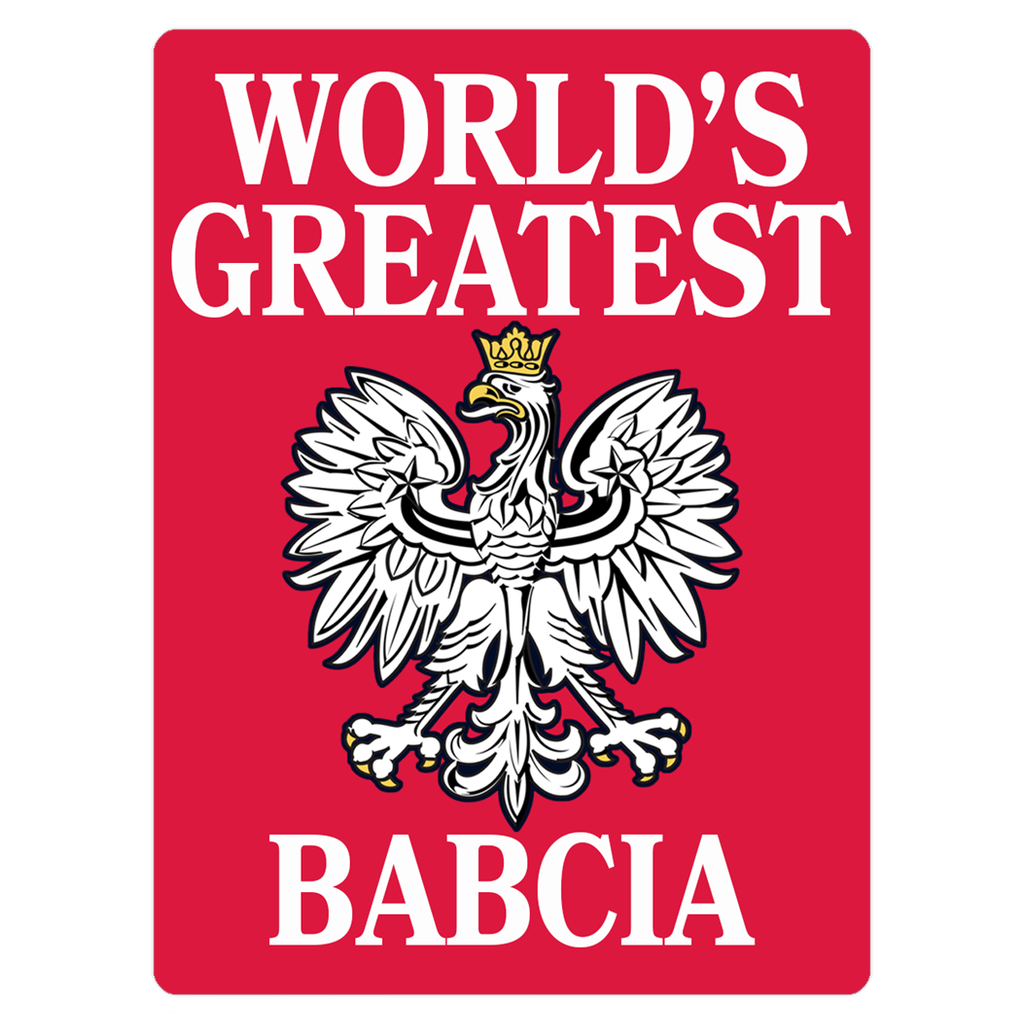 World's Greatest Babcia Polish Grandmother Magnet - 3x4 inch - Polish Shirt Store