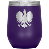 Polish Eagle Insulated Wine Tumbler With Lid - Purple - Polish Shirt Store