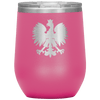 Polish Eagle Insulated Wine Tumbler With Lid - Pink - Polish Shirt Store