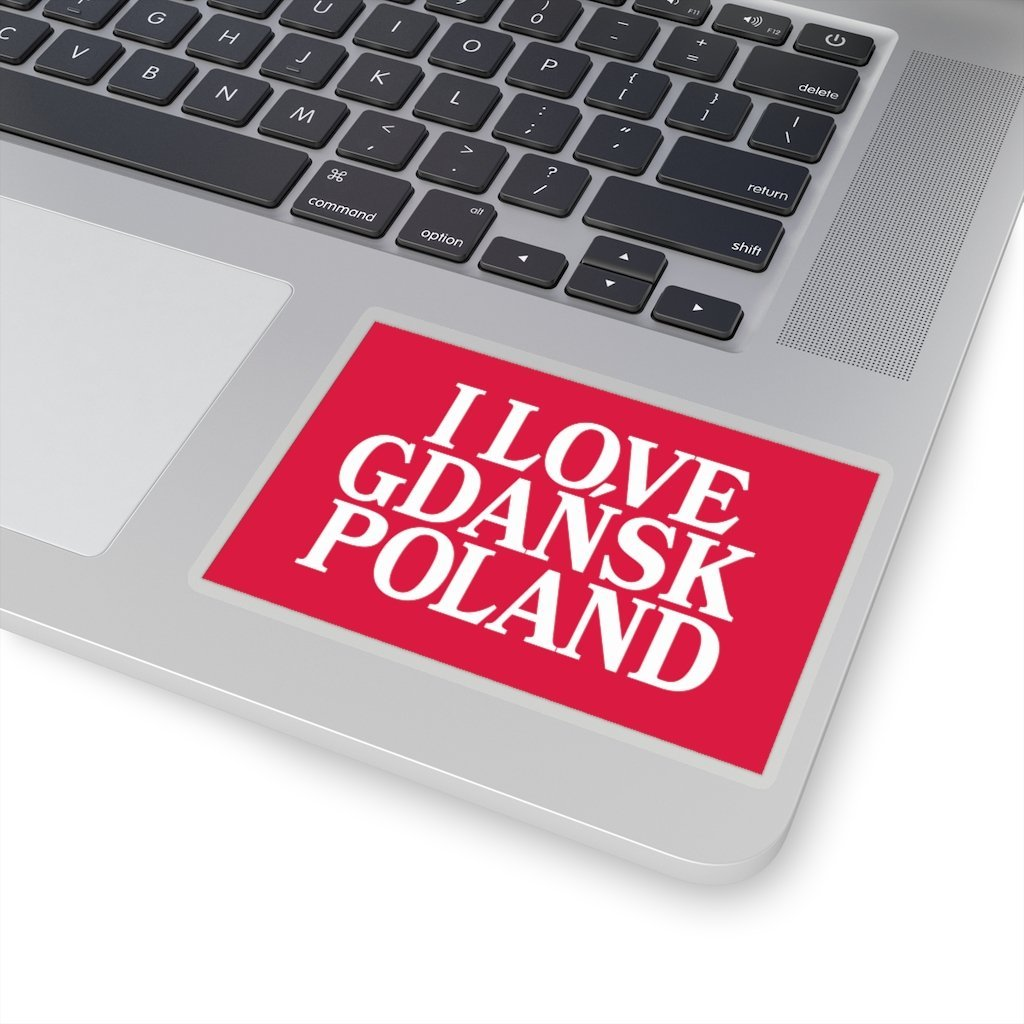 "I Love Gdansk Poland Die-Cut Sticker - 4x4"" / Transparent - Polish Shirt Store"