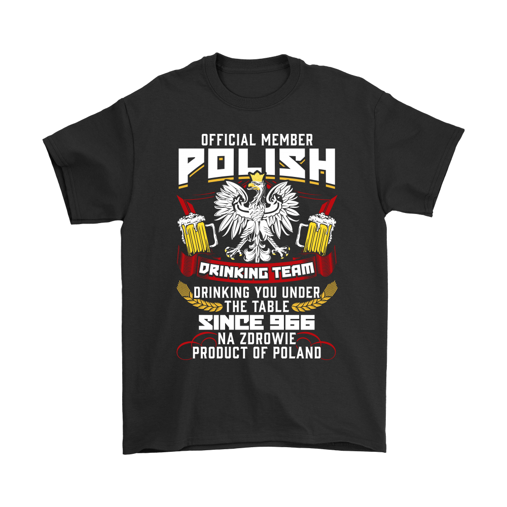 Polish Drinking Team Shirt and Hoodie - Gildan Mens T-Shirt / Black / S - Polish Shirt Store