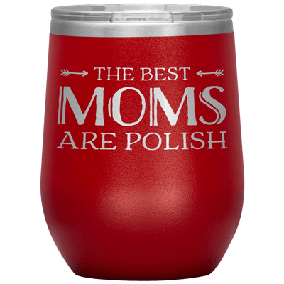 Polish Mothers Day Wine Tumbler Gift - Red - Polish Shirt Store