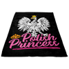 Polish Princess Black Fleece Blanket -  - Polish Shirt Store