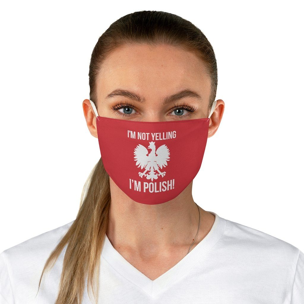 I'm Not Yelling I'm Polish Fabric Face Mask - One size - Polish Shirt Store