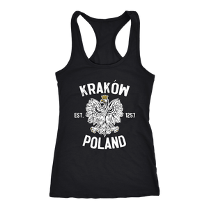 Krakow Poland - Next Level Racerback Tank / Black / XS - Polish Shirt Store