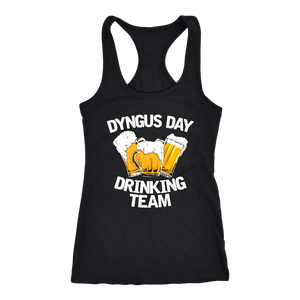 Dyngus Day Drinking Team - Next Level Racerback Tank / Black / XS - Polish Shirt Store