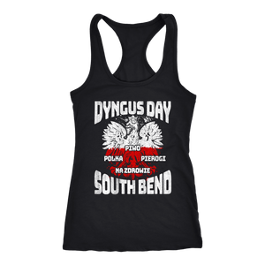 Dyngus Day South Bend Indiana - Next Level Racerback Tank / Black / XS - Polish Shirt Store