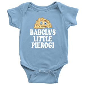 Babcia's Little PIerogi - Baby Onesie / Light Blue / NB - Polish Shirt Store