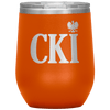 Polish Surname Ending in CKI Wine Tumbler - Orange - Polish Shirt Store