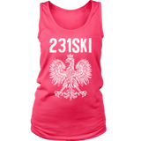 Michigan Polish Pride Tank Tops - Area Code 231 - District Womens Tank / Neon Pink / S - Polish Shirt Store