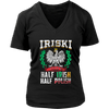 IRISKI Polish Irish Mix - District Womens V-Neck / Black / S - Polish Shirt Store