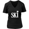 Polish Surnames Ski Womens V-Neck Shirts - District Womens V-Neck / Black / S - Polish Shirt Store