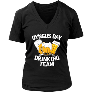 Dyngus Day Drinking Team - District Womens V-Neck / Black / S - Polish Shirt Store