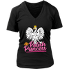 Polish Princess - District Womens V-Neck / Black / S - Polish Shirt Store