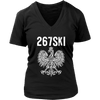 Philadelphia Pennsylvania Polish Pride - District Womens V-Neck / Black / S - Polish Shirt Store