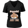 Pączki You Know Can't Eat Just One - District Womens V-Neck / Black / S - Polish Shirt Store