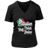 Half Italian Half Polish T-Shirt - District Womens V-Neck / Black / S - Polish Shirt Store
