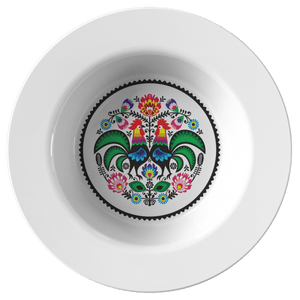 Polish Wycinanki Rooster Design Bowl - Single Bowl - Polish Shirt Store