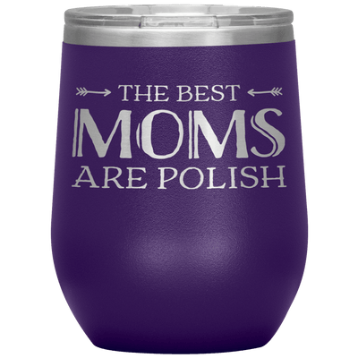 Polish Mothers Day Wine Tumbler Gift - Purple - Polish Shirt Store