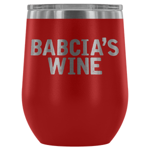 Babcia's Wine Tumbler - Red - Polish Shirt Store