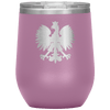 Polish Eagle Insulated Wine Tumbler With Lid - Light Purple - Polish Shirt Store