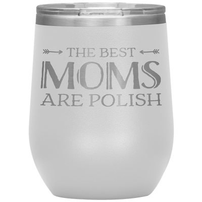 Polish Mothers Day Wine Tumbler Gift - White - Polish Shirt Store