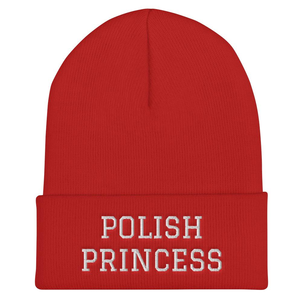 Polish Princess Cuffed Beanie - Red - Polish Shirt Store