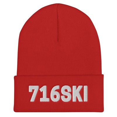 Dyngus Day Buffalo NY 716SKI Cuffed Beanie - Red - Polish Shirt Store
