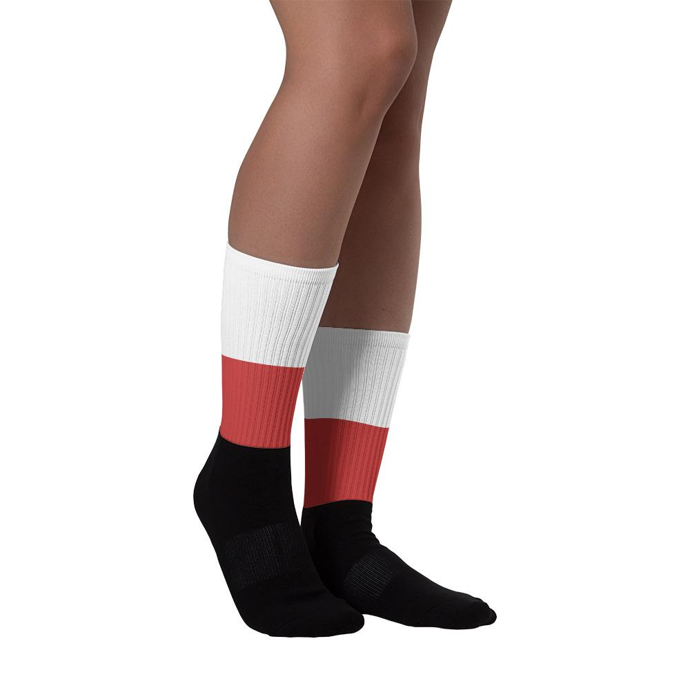 Polish Flag Colored Socks - M (6-8) - Polish Shirt Store