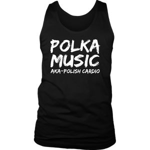 Polka Music Polish Cardio Mens - District Mens Tank / Black / S - Polish Shirt Store