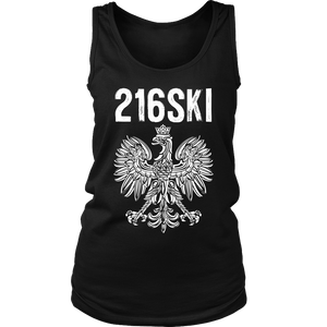 Cleveland Ohio - Area Code 216 - 216SKI - District Womens Tank / Black / S - Polish Shirt Store