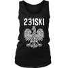 Michigan Polish Pride Tank Tops - Area Code 231 - District Womens Tank / Black / S - Polish Shirt Store