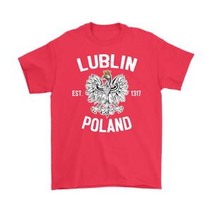 Lublin Poland - Gildan Mens T-Shirt / Red / S - Polish Shirt Store