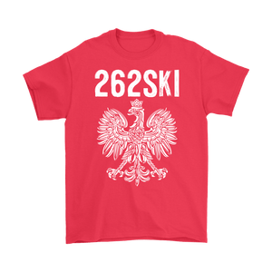 Wisconsin Polish Pride - 262 Area Code - Gildan Mens T-Shirt / Red / S - Polish Shirt Store