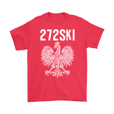 Scranton Pennsylvania - 272 Area Code - Gildan Mens T-Shirt / Red / S - Polish Shirt Store
