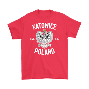 Katowice Poland - Gildan Mens T-Shirt / Red / S - Polish Shirt Store