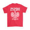 North Carolina Polish Pride - 252 Area Code - Gildan Mens T-Shirt / Red / S - Polish Shirt Store
